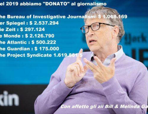 LA CORRUZIONE alla stampa degli zii Bill e Melinda Gates!